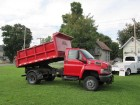 2005 CHEVROLET KODIAK C4500 4X4 REG CAB W/11 FT HD DUMP BOX  & FISHER SNOW PLOW DURAMAX  DIESEL