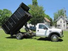 2008 FORD F-550 XL 4WD REGULAR CAB 4X4 W/ HD 12 FOOT STEEL DUMP BOX  POWER STROKE TURBO DIESEL MOTOR