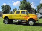 2006 FORD F-650 XLT CUSTOM CREW CAB W/ FACTORY PICKUP BED 7.2L C7 CATERPILLAR TURBO DIESEL MOTOR
