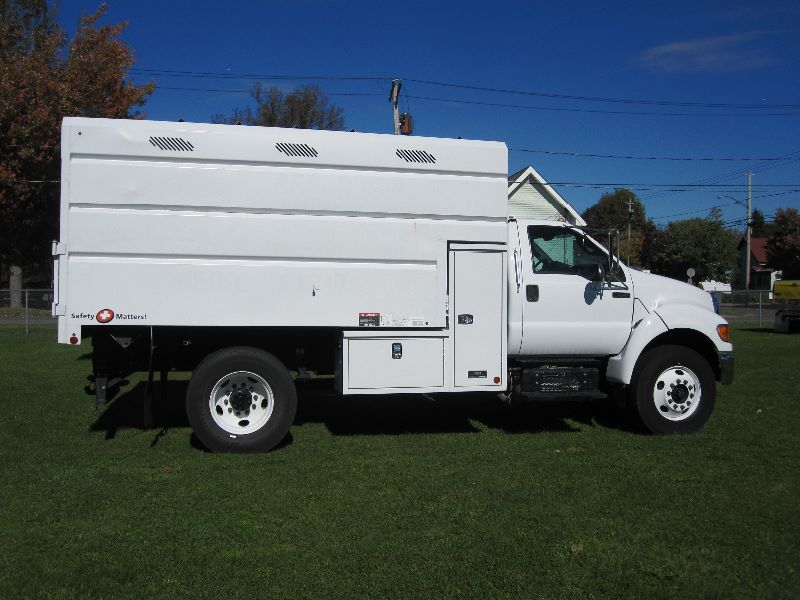 2012 ford f 750 xl reg cab w altec 14 ft tall chipper. Black Bedroom Furniture Sets. Home Design Ideas