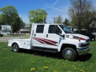 2004 CHEVROLET KODIAK C4500  CREW CAB W/ 9 FT HAULER BED 6.6L DURAMAX TURBO DIESEL MOTOR