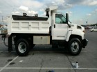 2005 CHEVROLET KODIAK C7500 REG CAB W/LARGE STEEL DUMP BOX & SNOW PLOW & SANDER CAT DIESEL