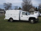 2007 CHEVROLET C3500 REGULAR CAB 2WD W/ ENCLOSED UTILITY BOX 6.6L DURAMAX TURBO DIESEL MOTOR