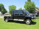 2007 CHEVROLET  KODIAK C4500  4X4 CREW CAB W/MONROE CINCH CONVERSION DURAMAX TURBO DIESEL MOTOR