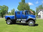 2005 INTERNATIONAL 7300 4WD CXT 4X4 CREW CAB W/ PICKUP DUMP BED 6 CYL - 7.6L DT466 TURBO DIESEL MOTOR