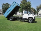 2004 GMC TOPKICK / KODIAK C6500 REGULAR CAB W/ 14 FOOT DUMP BOX 7.2L CAT TURBO DIESEL MOTOR